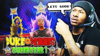 Duke Dennis SUPERSTAR ONE REACTION on NBA 2K20! I hit Superstar one in the most CRAZY WAY!