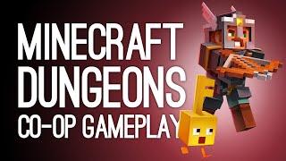 Minecraft Dungeons Gameplay: Enderman Boss! Treasure Pig! (Let's Play Co-op Minecraft Dungeons)