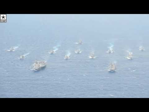 Military   Carrier Strike Group & Expeditionary Strike Group Sail In The Philippine Sea