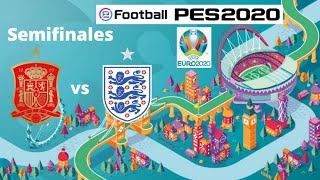 eFootball PES 2020: UEFA Euro 2020 - España vs Inglaterra (1er tiempo) - Liga Máster