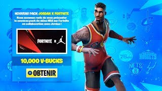 "Wow.. FORTNITE x JORDAN!! THE SKINS ""NBA"" DISPONIBLES!"