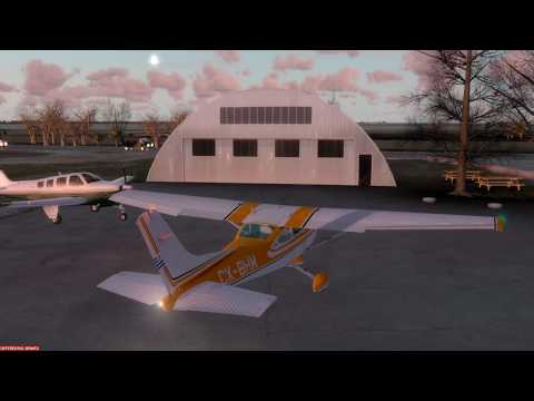 Cessna C182T Skylane, Tail# CX-BHM,  reproduced by:  (A2ASimulations).