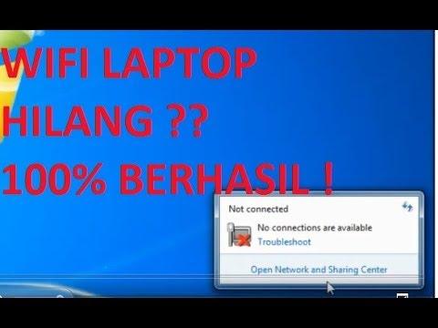 Mengembalikan Wifi Laptop yang Hilang, 100% Berhasil !!.
