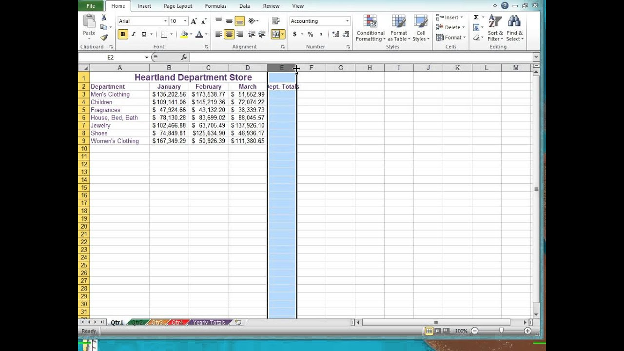 Excel 2010 Multiple Sheet Workbook Management