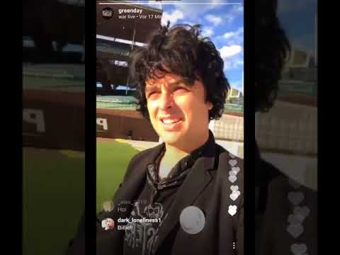 Billie Joe Armstrong, Instagram Live in Chicago (Green Day), 08/23/17