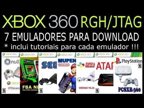 7 EMULADORES para XBOX360 RGH/JTAG. DOWNLOAD e TUTORIAIS !!!