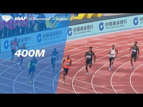 Steven Gardiner Wins Men's 400m - IAAF Diamond League Shanghai 2018