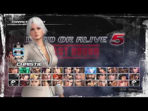 Dead Or Alive 5 Last Round Christie All Sexy Costumes In Motion Jiggle Physics PS4