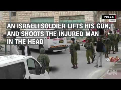 Israeli Soldier Shoots An Attack Suspect In The Street