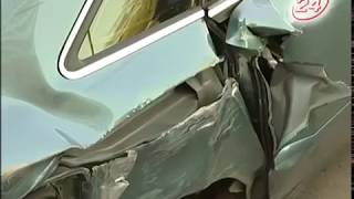 Пьяный водитель протаранил десяток автомобилей
