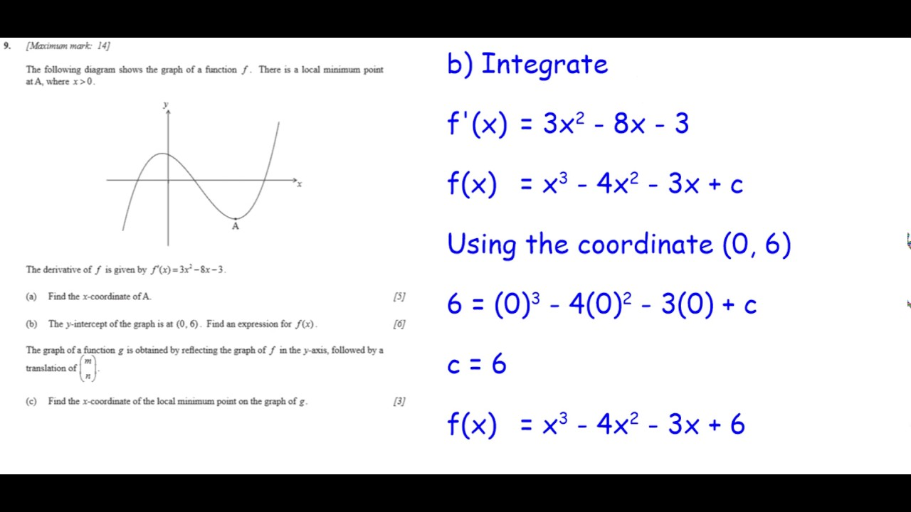IB SL Calculus Paper 1 Section B Example