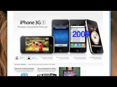 Apple Website History 2000-2011