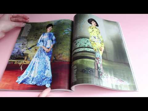 Flipping Through Fashion Magazines (ASMR whispering and paper sounds)