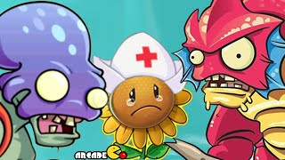 Plants Vs Zombies 2: Big Wave Beach Tiki Torch-er Level 36 Extremely Challenge