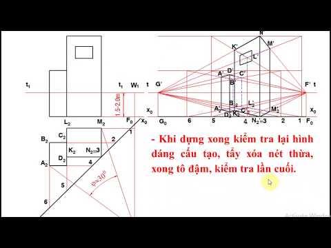 Cách vẽ hình chiếu Phối cảnh Công trình (How to draw a Perspective of a Building)