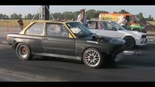 vuclip BMW 327 Turbo Breki Vs. BMW 345I Turbo Drag Race