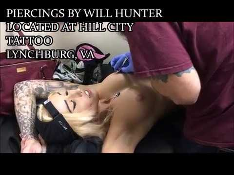 ANGEL GETS HER NIPPLES PIERCED and on CAMERA?! DONE BY WILL HUNTER | AngelVicious