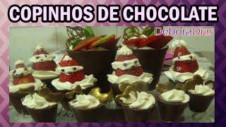 COMO FAZER COPINHOS DE CHOCOLATE ,PARA GANHAR MUITO DINHEIRO