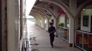 【タイ-ラオス国際列車】ヴィエンチャン(タナレーン)出発 Train from Vientiane in Laos