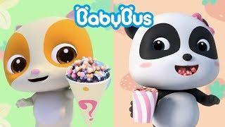 Download lagu Bayi Panda Makan Popcorn Lezat | Lagu Makanan Anak | BabyBus Bahasa Indonesia