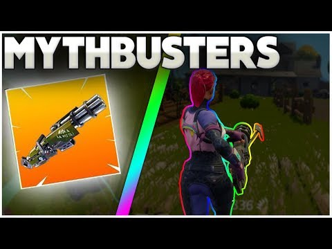 Does The Minigun Slow Down Your Player? | Slurp Juice Healing While Downed | Fortnite Mythbusters 7
