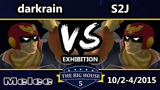 TBH5 - darkrain (Captain Falcon) Vs. S2J (Falcon) SSBM Exhibition - Smash Melee