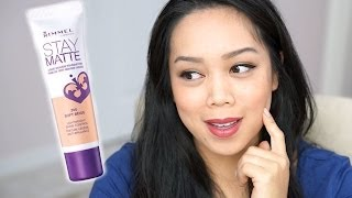 NEW Rimmel Stay Matte Liquid Mousse Foundation first impression review - itsjudytime