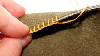 ПЕТЕЛЬНЫЙ шов (Ручные швы)(Петельный шов (обмёточный) применяют для обработки срезов, чтобы защитить их от осыпания. Этот шов одноврем..., 2013-10-15T11:18:43.000Z)