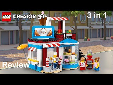 Lego Creator 31077 Set Review - Modular Sweet Surprises all 3 builds