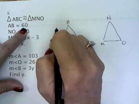 Geometry Unit 4 Review Congruent Triangles - YouTube