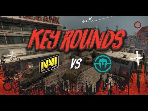 Key rounds: NAVI vs Immortals on Overpass @ PGL Major Krakow 2017 [RU/EN]