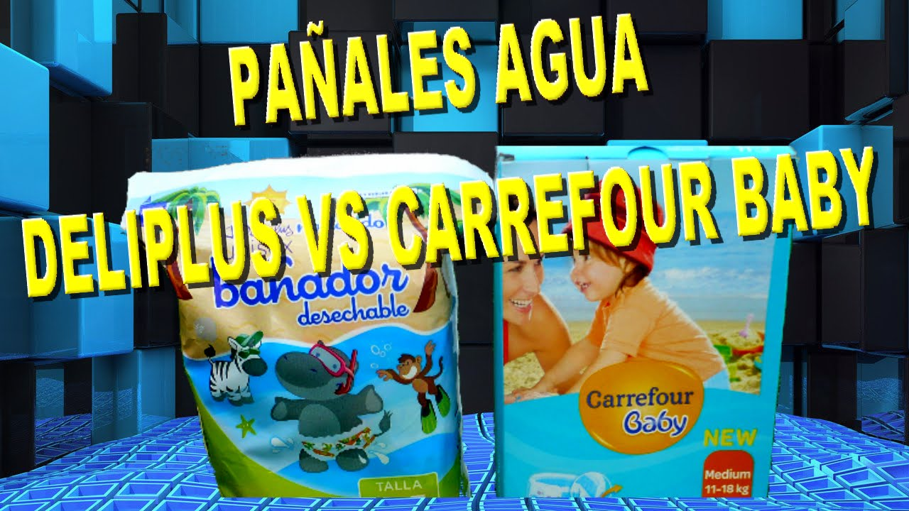 9a474acf2 PAÑALES AGUA DELIPLUS VS CARREFOURBABY - YouTube