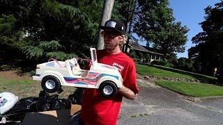 Trash Picking Designer COACH Shoes And Vintage Barbie Cars!!!!