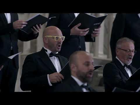 Aquileia, 27 settembre 2020. Il Polifonico esegue per la prima volta
