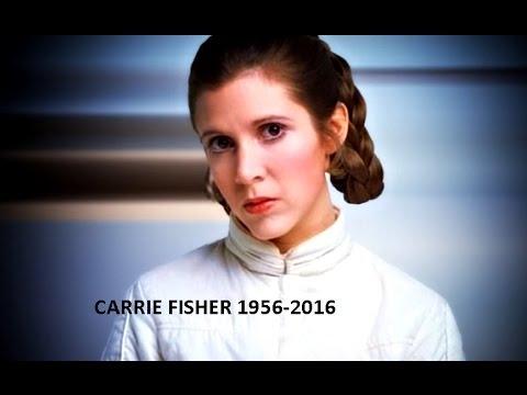 Carrie Fisher, DEAd,sixty years. fallecio a los 60 años