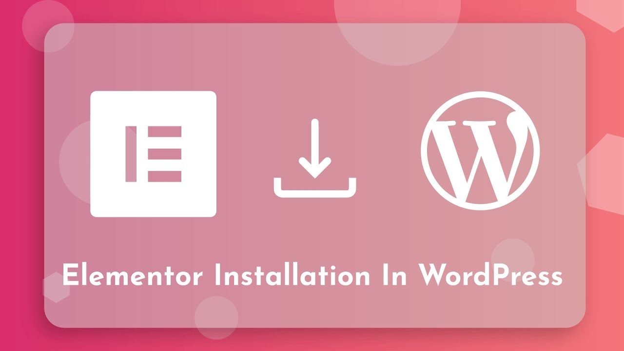 Install Elementor Plugin in WordPress | WordPress Tutorial ...