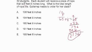 CBEST Practice Test Math Question 5