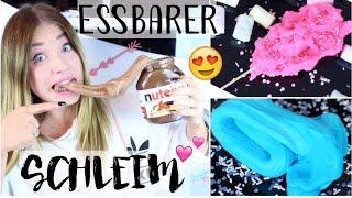 ESSBARER Nutella Schleim / Zuckerwatte Schleim 😍 ( Edible Slime ) | BibisBeautyPalace