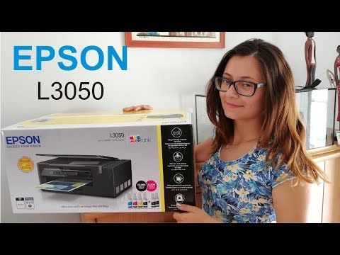 EPSON L3050 EcoTank printer - Unboxing and ink installation by Eva