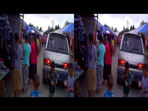 Saturday 'Faire' near Nuku'alofa Harbor in the Kingdom of Tonga in 3D