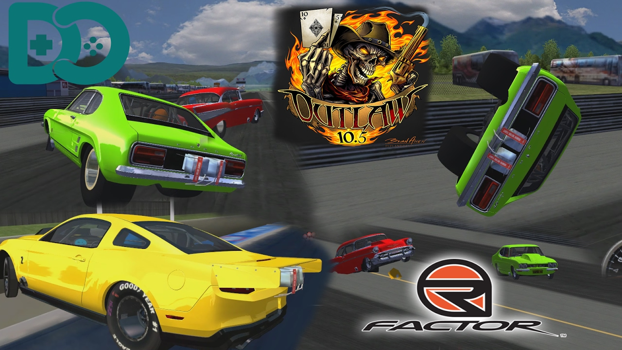 Rfactor #2 - Drag Racing - Jethros Outlaws Mod - WHEELIES & Crashes! by  TheStock S10