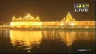 Bhai Ravinder Singh Ji - Guru Ramdas Ji Prakash Gurpurab Aarti Kirtan + Fireworks, Sri Darbar Sahib