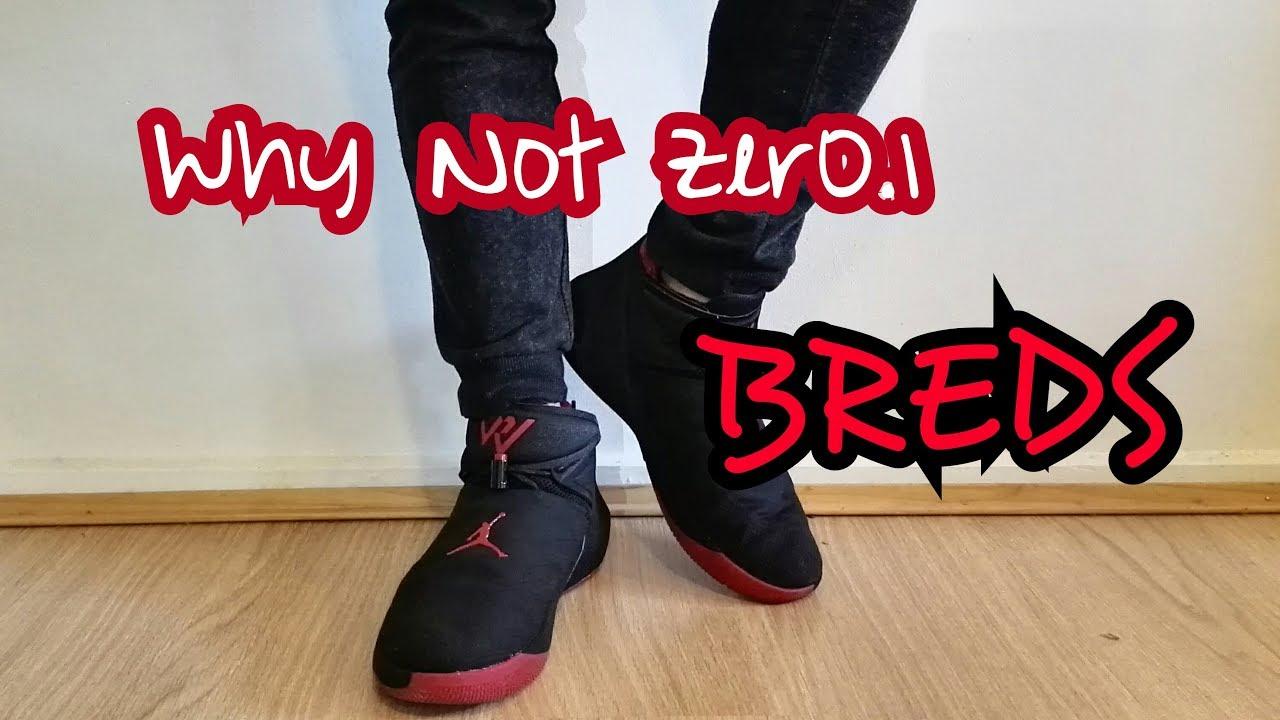 official photos 1d847 9dd1f AIR JORDAN WESTBROOK Why Not Zer0.1 BREDS 2018 On Feet Look