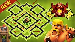 New BEST Town Hall 8 (TH8) TROPHY Base Design!! With Bomb Tower [TH8 Defence] clash of clans [2017]