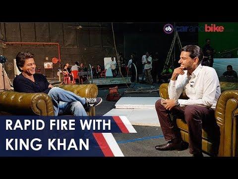 Rapid Fire With SRK | NDTV carandbike