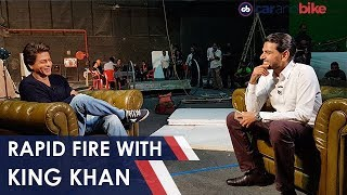 Rapid Fire With SRK | NDTV carandbike