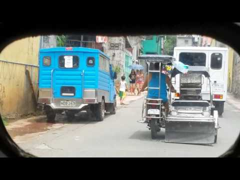 Tricycle ride in Antipolo City Philippines