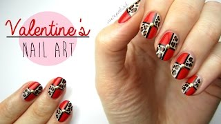 Nail Art for Valentine's Day: Leopard Blocking!