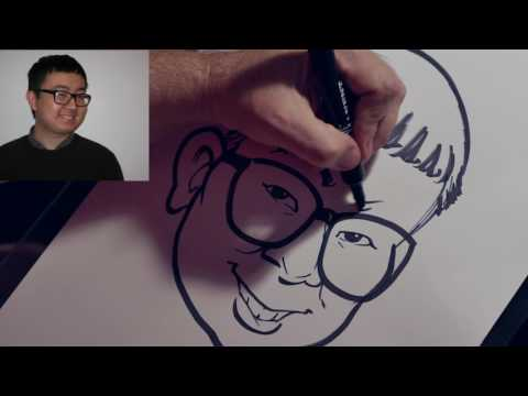 HOW TO DRAW A QUICK CARICATURE DEMO by ERIC MELTON