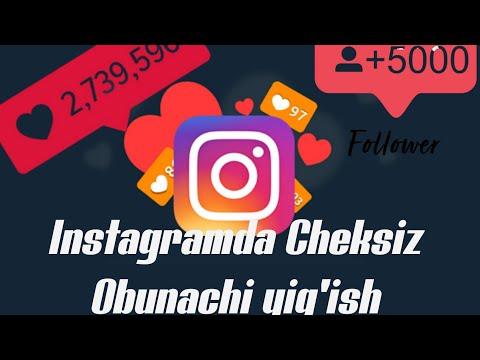 Instagramda Cheksiz Obunachi Ko'paytirish, Kuniga 2000 Dan Ortiq/ Increase Follower On Instagram